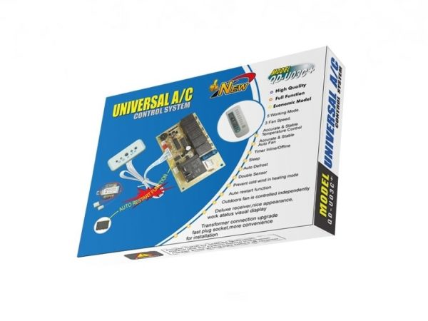QD-U03C-Universal Air Conditioner PC Board With Remote Control System